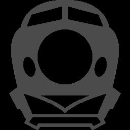 旧型の新幹線乗り場の公共標識 アイコン素材ダウンロードサイト Icooon Mono 商用利用可能なアイコン素材が無料 フリー ダウンロードできるサイト