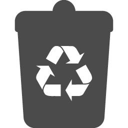 リサイクルマーク付きのゴミ箱イラスト アイコン素材ダウンロードサイト Icooon Mono 商用利用可能なアイコン素材が無料 フリー ダウンロードできるサイト