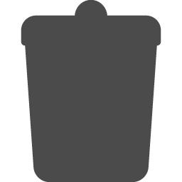 ゴミ箱シルエット アイコン素材ダウンロードサイト Icooon Mono 商用利用可能なアイコン素材が無料 フリー ダウンロードできるサイト
