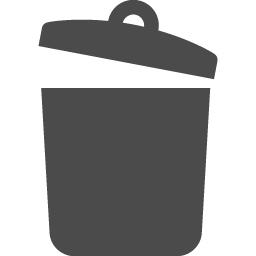 ふたの開いたゴミ箱のアイコン アイコン素材ダウンロードサイト Icooon Mono 商用利用可能なアイコン素材が無料 フリー ダウンロードできるサイト