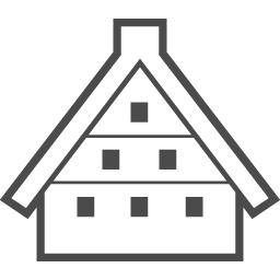 白川郷の古民家のフリーアイコン アイコン素材ダウンロードサイト Icooon Mono 商用利用可能なアイコン素材が無料 フリー ダウンロードできるサイト