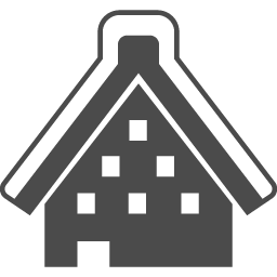 合掌造りの家の無料アイコン アイコン素材ダウンロードサイト Icooon Mono 商用利用可能なアイコン素材が無料 フリー ダウンロードできるサイト