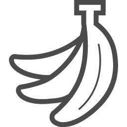 バナナなの房のイラスト素材 アイコン素材ダウンロードサイト Icooon Mono 商用利用可能なアイコン素材が無料 フリー ダウンロードできるサイト