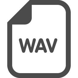 Wavファイルアイコン アイコン素材ダウンロードサイト Icooon Mono 商用利用可能なアイコン素材が無料 フリー ダウンロード できるサイト