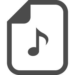 音楽ファイルアイコン 1 アイコン素材ダウンロードサイト Icooon Mono 商用利用可能なアイコン素材が無料 フリー ダウンロードできるサイト