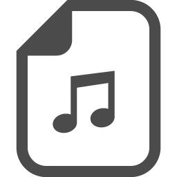 音楽ファイルアイコン 3 アイコン素材ダウンロードサイト Icooon Mono 商用利用可能なアイコン素材が無料 フリー ダウンロードできるサイト