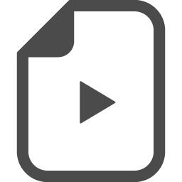動画ファイルアイコン 1 アイコン素材ダウンロードサイト Icooon Mono 商用利用可能なアイコン 素材が無料 フリー ダウンロードできるサイト