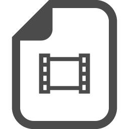 Movie File 2 アイコン素材ダウンロードサイト Icooon Mono 商用利用可能なアイコン 素材が無料 フリー ダウンロードできるサイト