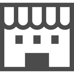 お店っぽい建物アイコン アイコン素材ダウンロードサイト Icooon Mono 商用利用可能なアイコン素材が無料 フリー ダウンロードできるサイト