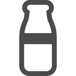 牛乳ビンのフリーアイコン 2 アイコン素材ダウンロードサイト Icooon Mono 商用利用可能なアイコン素材が無料 フリー ダウンロードできるサイト