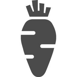 ニンジンのフリーアイコン アイコン素材ダウンロードサイト Icooon Mono 商用利用可能なアイコン 素材が無料 フリー ダウンロードできるサイト