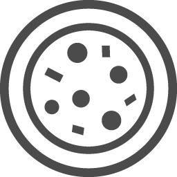ピザのイラスト アイコン素材ダウンロードサイト Icooon Mono 商用利用可能なアイコン素材が無料 フリー ダウンロードできるサイト