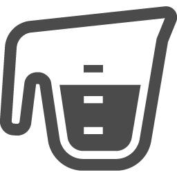 計量カップ 2 アイコン素材ダウンロードサイト Icooon Mono 商用利用可能なアイコン素材が無料 フリー ダウンロードできるサイト