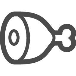 骨付き肉1 アイコン素材ダウンロードサイト Icooon Mono 商用利用可能なアイコン素材が無料 フリー ダウンロードできるサイト