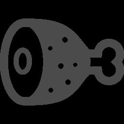 骨付き肉2 アイコン素材ダウンロードサイト Icooon Mono 商用利用可能なアイコン素材が無料 フリー ダウンロードできるサイト