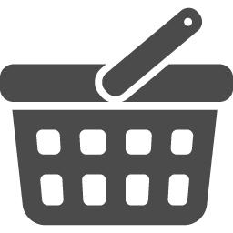 買い物カゴのフリーアイコン4 アイコン素材ダウンロードサイト Icooon Mono 商用利用可能なアイコン素材が無料 フリー ダウンロードできるサイト