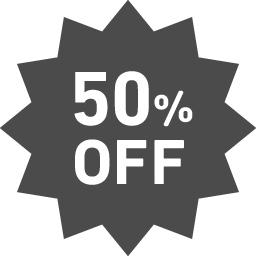 50パーセントオフのアイコン1 アイコン素材ダウンロードサイト Icooon Mono 商用利用可能なアイコン素材が無料 フリー ダウンロードできるサイト