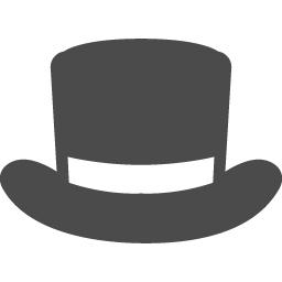 シルクハットのアイコン 2 アイコン素材ダウンロードサイト Icooon Mono 商用利用可能なアイコン素材が無料 フリー ダウンロードできるサイト