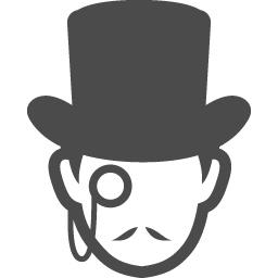 アルセーヌ ルパン風の怪盗アイコン アイコン素材ダウンロードサイト Icooon Mono 商用利用可能なアイコン素材が無料 フリー ダウンロードできるサイト