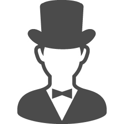 紳士の人物アイコン アイコン素材ダウンロードサイト Icooon Mono 商用利用可能なアイコン素材が無料 フリー ダウンロードできるサイト