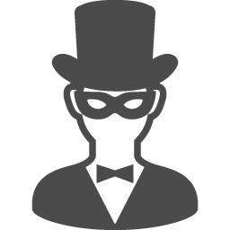 仮面舞踏会の紳士アイコン アイコン素材ダウンロードサイト Icooon Mono 商用利用可能なアイコン素材が無料 フリー ダウンロードできるサイト