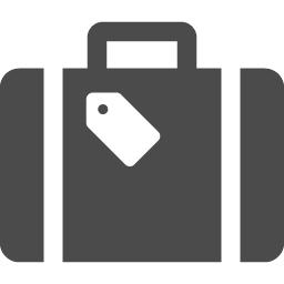 旅行用スーツケースのアイコン1 アイコン素材ダウンロードサイト Icooon Mono 商用利用可能なアイコン素材が無料 フリー ダウンロードできるサイト