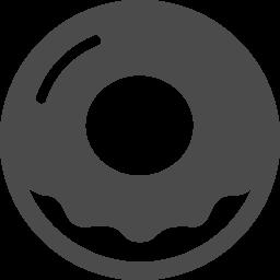 ドーナツの無料アイコン1 アイコン素材ダウンロードサイト Icooon Mono 商用利用可能なアイコン素材が無料 フリー ダウンロードできるサイト