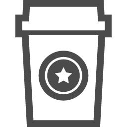 テイクアウトのコーヒーのアイコン1 アイコン素材ダウンロードサイト Icooon Mono 商用利用可能なアイコン素材が無料 フリー ダウンロードできるサイト