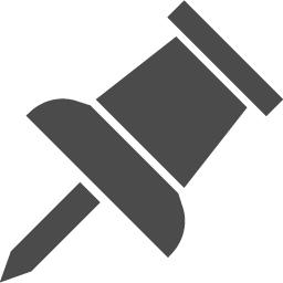 押しピンの無料アイコン3 アイコン素材ダウンロードサイト Icooon Mono 商用利用可能なアイコン 素材が無料 フリー ダウンロードできるサイト