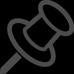 押しピンのフリーアイコン8 アイコン素材ダウンロードサイト Icooon Mono 商用利用可能なアイコン素材が無料 フリー ダウンロードできるサイト