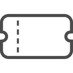 チケットのフリーアイコン6 アイコン素材ダウンロードサイト Icooon Mono 商用利用可能なアイコン素材が無料 フリー ダウンロードできるサイト