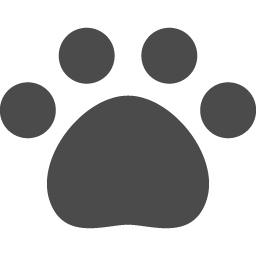 肉球のアイコン1 アイコン素材ダウンロードサイト Icooon Mono 商用利用可能なアイコン素材が無料 フリー ダウンロードできるサイト