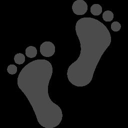 足跡のアイコン2 アイコン素材ダウンロードサイト Icooon Mono 商用利用可能なアイコン素材が無料 フリー ダウンロードできるサイト