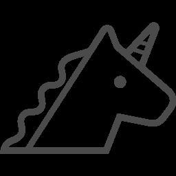 ユニコーンのアイコン1 アイコン素材ダウンロードサイト Icooon Mono 商用利用可能なアイコン素材が無料 フリー ダウンロードできるサイト