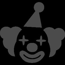 ピエロの顔アイコン アイコン素材ダウンロードサイト Icooon Mono 商用利用可能なアイコン素材が無料 フリー ダウンロードできるサイト