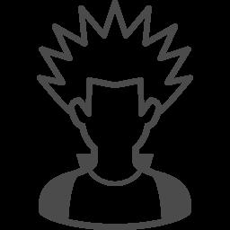 パンクな人のフリーアイコン1 アイコン素材ダウンロードサイト Icooon Mono 商用利用可能なアイコン素材が無料 フリー ダウンロードできるサイト
