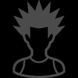 パンクな人のアイコン2 アイコン素材ダウンロードサイト Icooon Mono 商用利用可能なアイコン素材が無料 フリー ダウンロードできるサイト