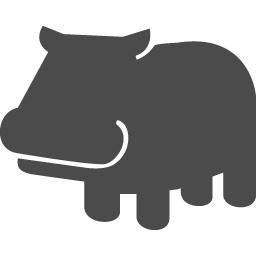 カバのアイコン1 アイコン素材ダウンロードサイト Icooon Mono 商用利用可能なアイコン素材が無料 フリー ダウンロードできるサイト
