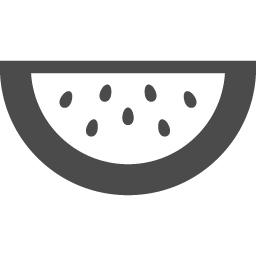 スイカの無料アイコン アイコン素材ダウンロードサイト Icooon Mono 商用利用可能なアイコン 素材が無料 フリー ダウンロードできるサイト