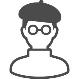 漫画家のアイコン1 アイコン素材ダウンロードサイト Icooon Mono 商用利用可能なアイコン素材が無料 フリー ダウンロードできるサイト