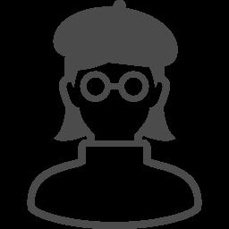 漫画家のアイコン2 アイコン素材ダウンロードサイト Icooon Mono 商用利用可能なアイコン素材が無料 フリー ダウンロードできるサイト