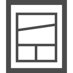 漫画のコマ割りアイコン アイコン素材ダウンロードサイト Icooon Mono 商用利用可能なアイコン素材 が無料 フリー ダウンロードできるサイト