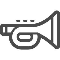 トランペットのアイコン3 アイコン素材ダウンロードサイト Icooon Mono 商用利用可能なアイコン素材が無料 フリー ダウンロードできるサイト