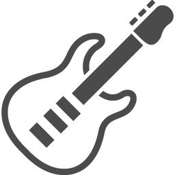 エレキギターのアイコン1 アイコン素材ダウンロードサイト Icooon Mono 商用利用可能なアイコン素材が無料 フリー ダウンロードできるサイト
