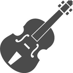 バイオリンの無料アイコン1 アイコン素材ダウンロードサイト Icooon Mono 商用利用可能なアイコン素材が無料 フリー ダウンロードできるサイト