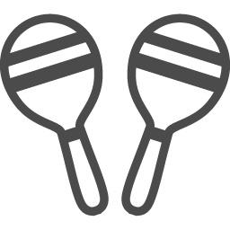 マラカス2 アイコン素材ダウンロードサイト Icooon Mono 商用利用可能なアイコン素材が無料 フリー ダウンロードできるサイト