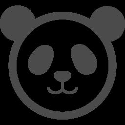 パンダの顔アイコン1 アイコン素材ダウンロードサイト Icooon Mono 商用利用可能なアイコン素材が無料 フリー ダウンロードできるサイト