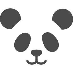 パンダの顔アイコン2 アイコン素材ダウンロードサイト Icooon Mono 商用利用可能なアイコン素材が無料 フリー ダウンロードできるサイト