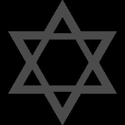 ダビデの星のピクトグラム アイコン素材ダウンロードサイト Icooon Mono 商用利用可能なアイコン素材が無料 フリー ダウンロードできるサイト