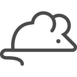 ネズミのアイコン2 アイコン素材ダウンロードサイト Icooon Mono 商用利用可能なアイコン素材が無料 フリー ダウンロードできるサイト